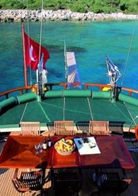 gulet boat deck