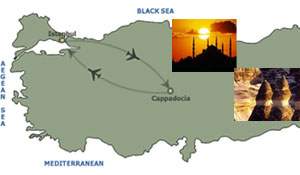 istanbul cappadocia package map route