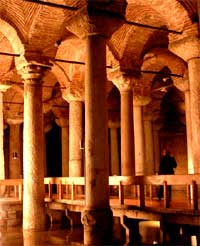 byzantine columns in the underground water resevoire