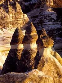 cappadocia fairy chimneys, canyons and valleys